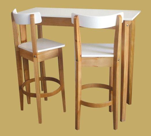 Mesas y sillas para bar muebles iriarte for Sillas para desayunador